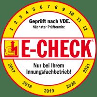 E-CHECK - Geprüft nach VDE.